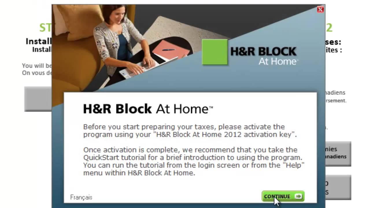 download h&r block with activation code