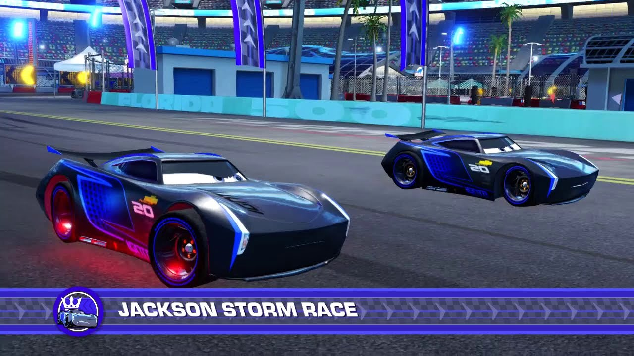 cars 3 driven to win ps4 gameplay jackson storm vs. Black Bedroom Furniture Sets. Home Design Ideas