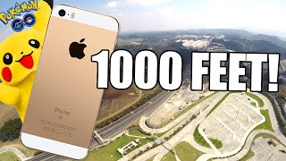 Can Pikachu protect iPhone SE from 1,000 FEET Drop Test?!! - Pokemon Go edition