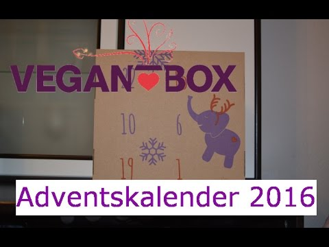Veganer Weihnachtskalender.Vegan Box Adventskalender 2016