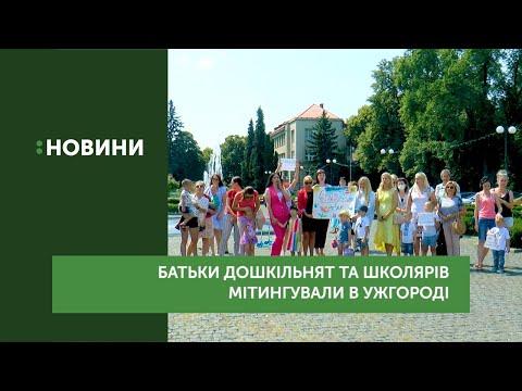 Батьки дошкільнят та школярів мітингували в Ужгороді