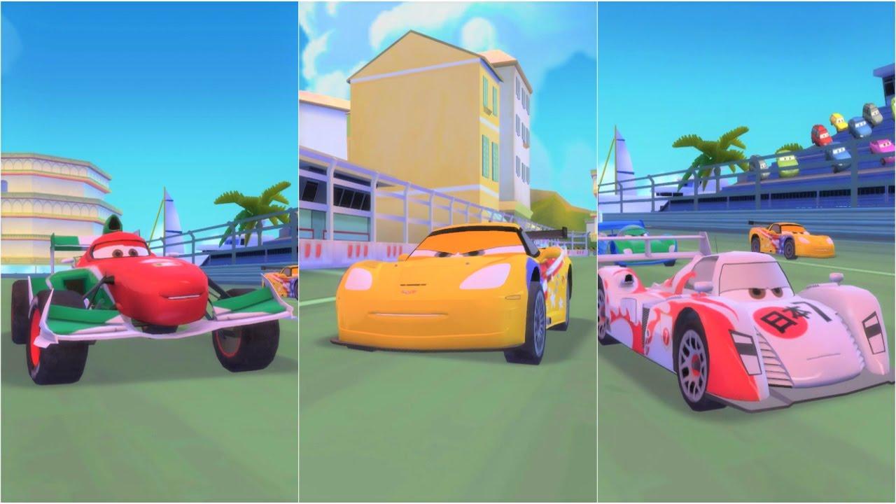 Cars 2 American Jeff Gorvette vs Italian Francesco ...