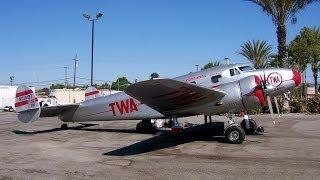 TWA Lockheed 12A Electra Junior NC18137 Burbank Airport 09-2008