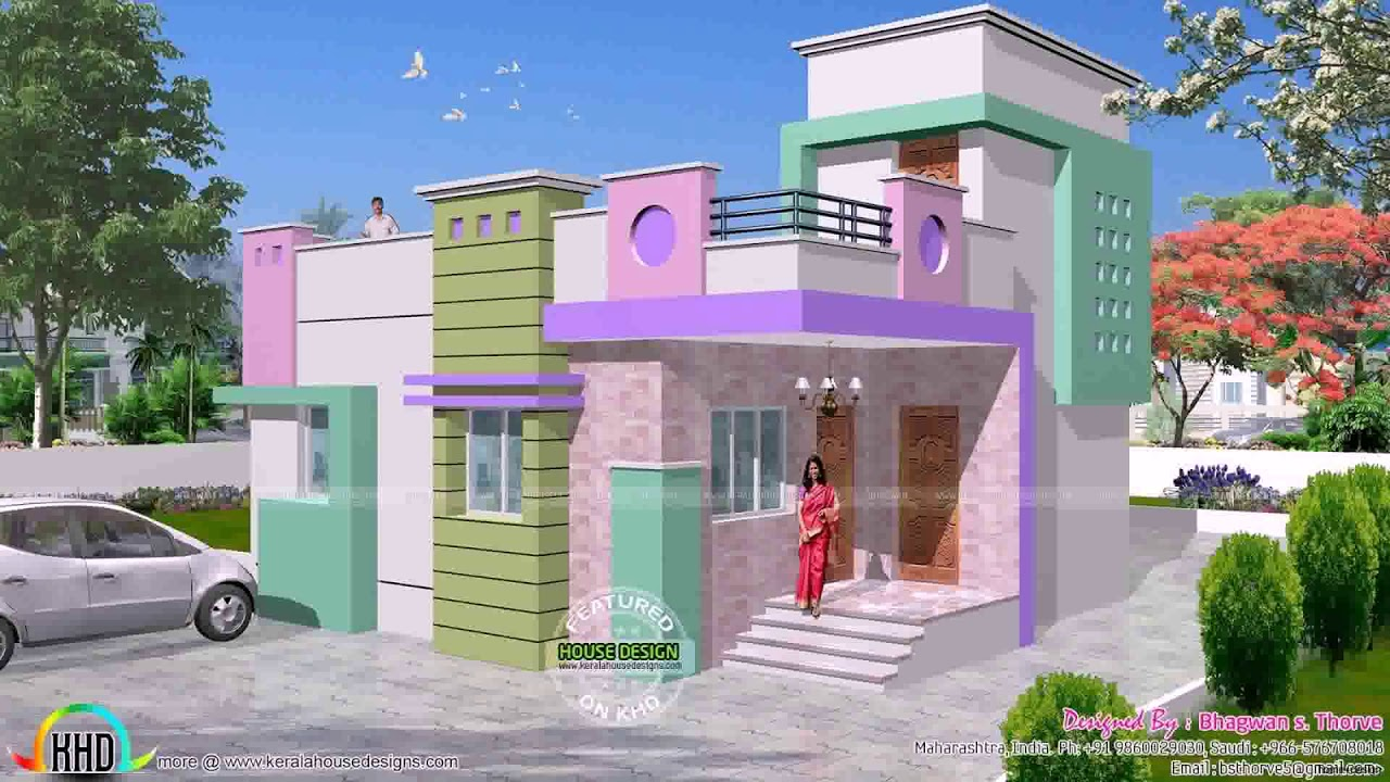 Front Design Of House In Indian Single Story Youtube