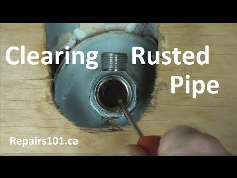 How To Clear Rusted Pipe To Restore Water Flow Using CLR ...