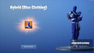 "Fortnite; Challenges/ nBKg unlocks the Blue clothing style for ""Hybrid"" 