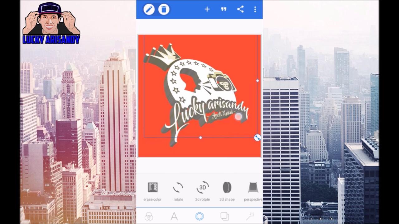 Pixellab Tutorial Cara Membuat Logo Nama 3d Keren Di Android