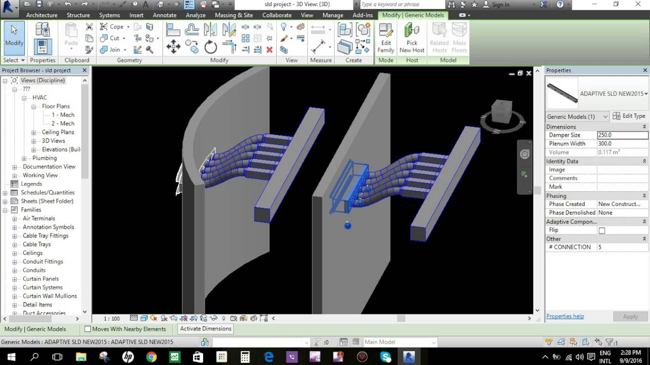 Revit Family Slot Linear Diffuser Multi Function Youtube