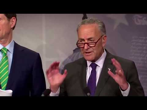 Chuck Schumer Reacts to Trump's New Tax Reform Plan on his Press Conference 9/27/2017