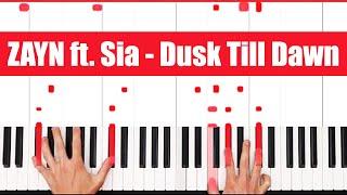 Video Dusk Till Dawn ZAYN ft. Sia Piano Tutorial -VOCAL download MP3, 3GP, MP4, WEBM, AVI, FLV April 2018