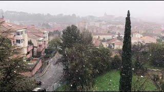 Neige en Provence : les flocons s'abattent sur Aubagne