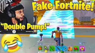 Daequan Tries *NEW* FAKE Fortnite! *HILARIOUS RIP-OFF!* WINS FIRST GAME ON!