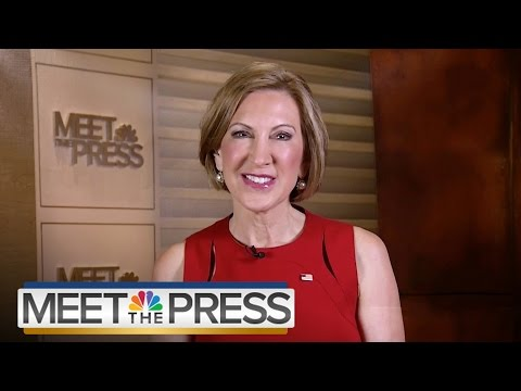 Carly Fiorina: 'We Saved 80,000 Jobs' When I Was At HP' (Full Interview) | Meet The Press | NBC News