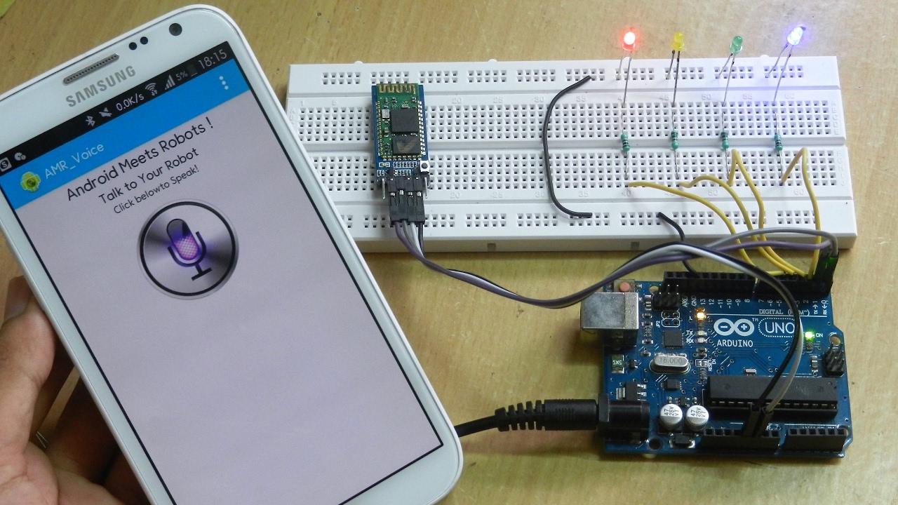 Arduino Voice Control using Smartphone