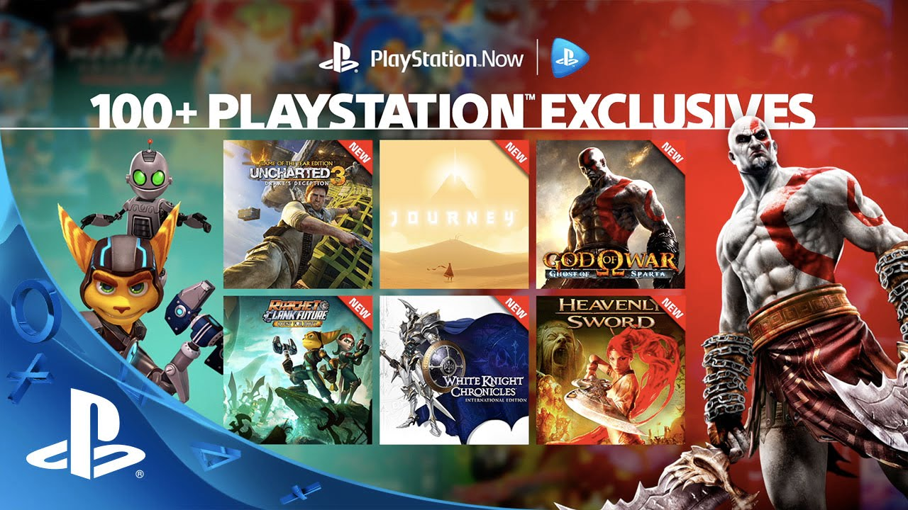 100 playstation exclusives on playstation now