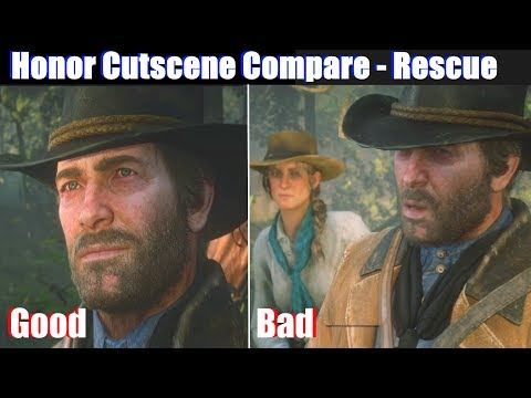 RDR2 Low Honor vs High Honor Arthur Rescue Abigail - Red Dead Redemption 2 PS4 Pro