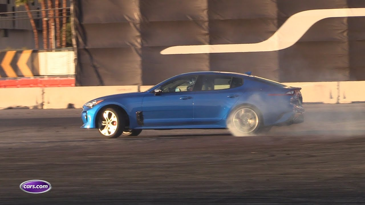 2018 Kia Stinger GT Drifts, Shows Off At 2017 SEMA — Cars.com - YouTube