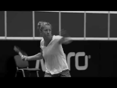 The French Fed Cup team in training
