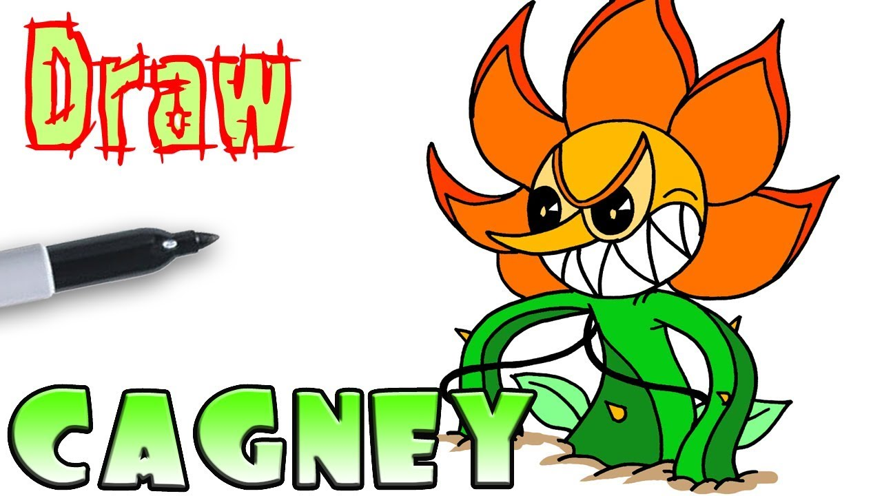 How to Draw Cagney Carnation Final Phase   Cuphead - YouTube