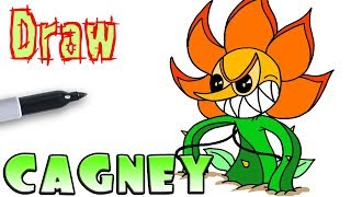 How to Draw Cagney Carnation Final Phase | Cuphead