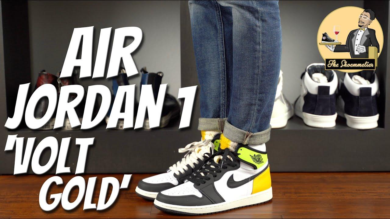 Nike Air Jordan 1 Retro High OG 'Volt Gold' • On-Feet & Overview
