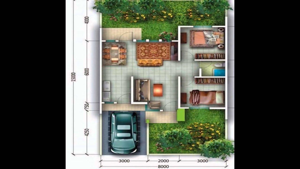 Gambar Denah Rumah Minimalis Type 60 Model 1 Lantai Dan 2 Lantai