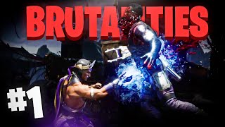 ⚡¿RAIN TIENE los MEJORES BRUTALlTlES del KP? || Todos los BRUTALlTlES de RAIN #1 - Mortal Kombat 11