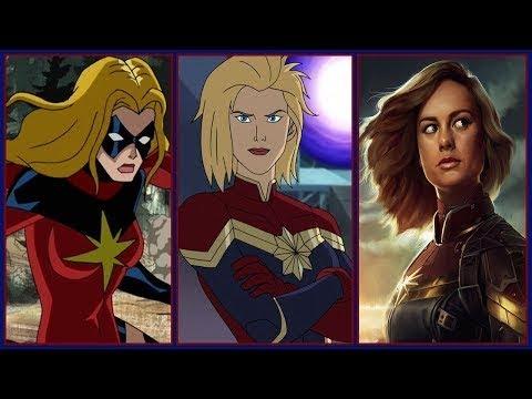 Captain Marvel Evolution In Cartoons & Movies (Carol Danvers/Ms Marvel) (2018)