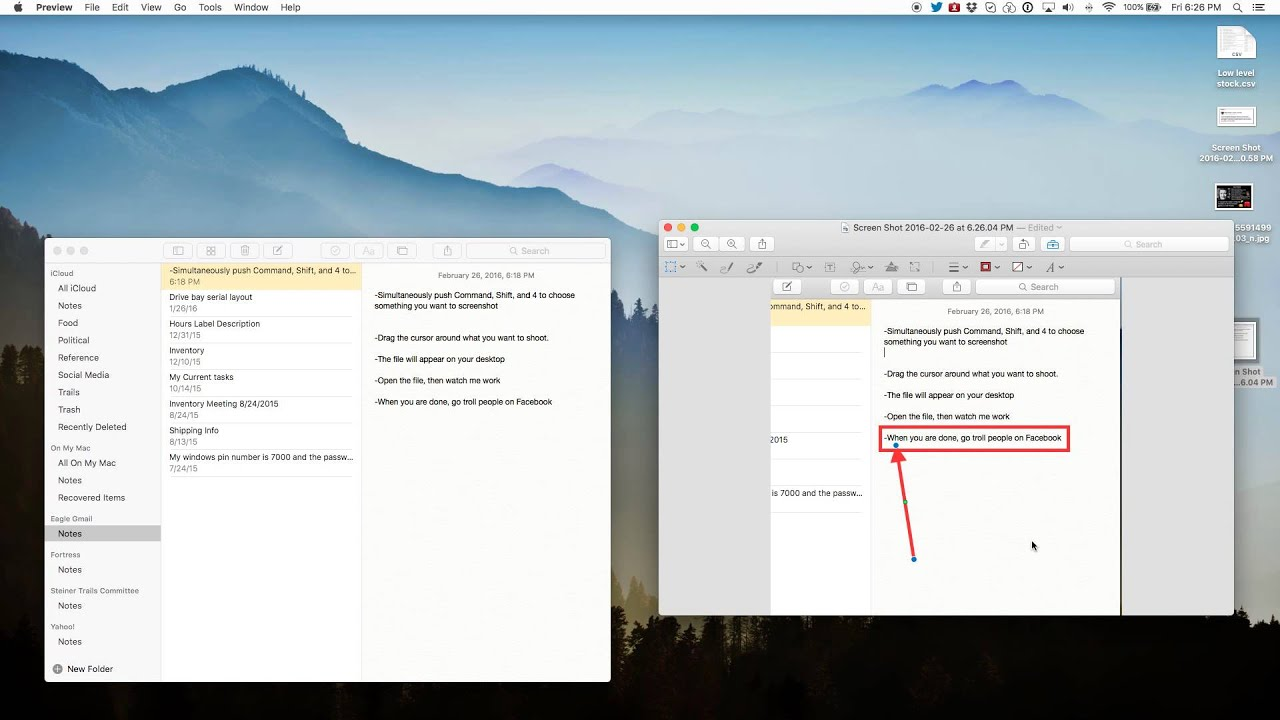 How To Annotate A Photo In El Capitan