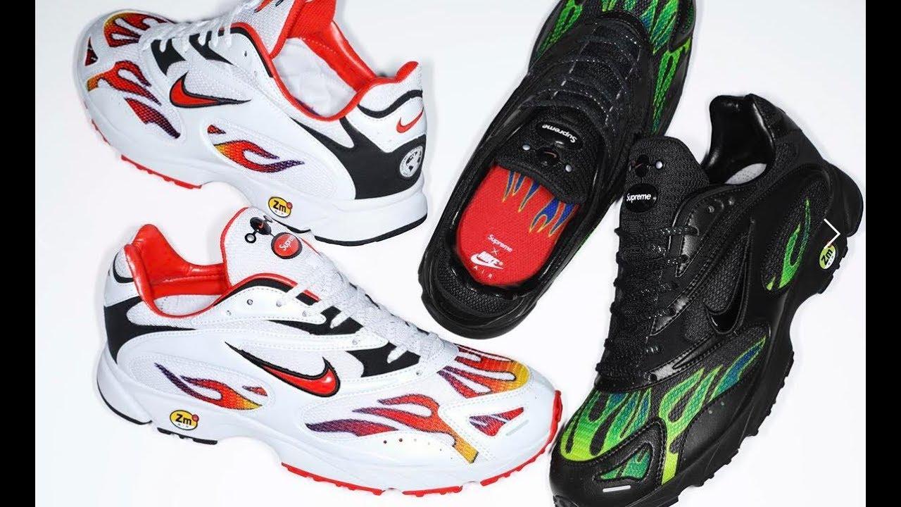 nike air zoom serie supreme x dello spettro più bianco e scarpe nere