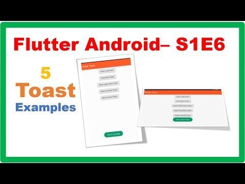 Flutter Widgets → Flutter Toast – Camposha