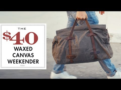 885b54b7c The $40 Waxed Canvas Weekender - YouTube