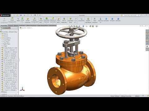 SolidWorks Tutorial | Design And Assembly Of Stop Valve In SolidWorks