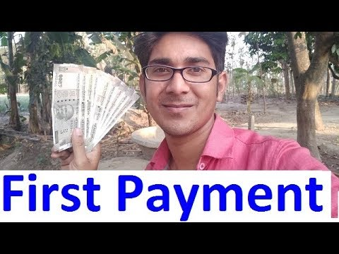 First payment of A2Z HINDI TRICK from youtube. How much pay youtube of 1000 views