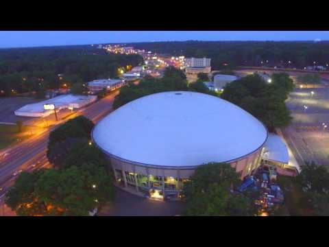Bojangles Coliseum Charlotte Drone View