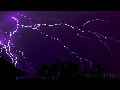Lightning strikes over Tywyn, Wales 19/7/17