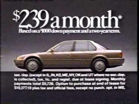 1993 Honda Accord Commercial Youtube