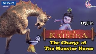 "LITTLE KRISHNA ENGLISH EPISODE 10 ""THE CHARGE OF THE MONSTER HORSE"" ANIMATION SERIES"
