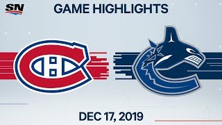 NHL Highlights | Canadiens Vs Canucks – Dec. 17, 2019