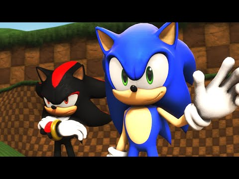 Sonic & Shadow Visit Green Hill Zone! (VR Chat)