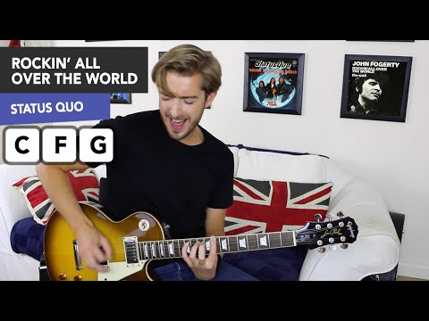 Rockin' All Over The World Guitar Lesson - Status Quo/ John Fogerty
