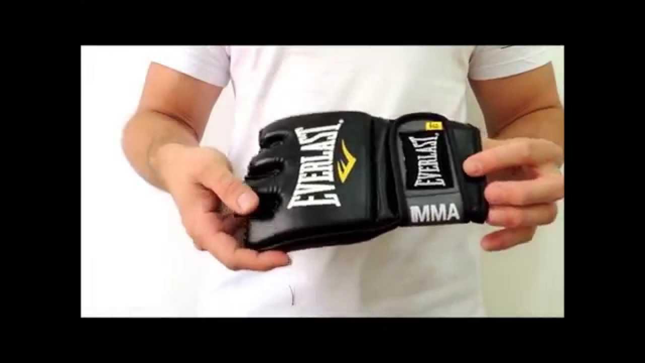 Luva MMA Everlast Preto - YouTube e30903a856baa