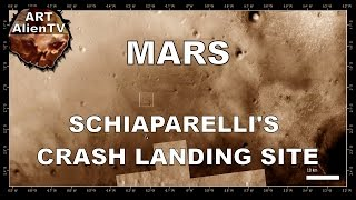 MARS: SCHIAPARELLI's CRASH LANDING SITE. ESA/NASA. ArtAlienTV - 1080p60