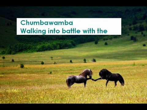 Chumbawamba walking into battle with the lord