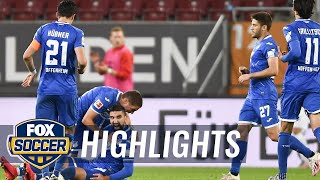 Moanes dabour netted two goals in the span of three minutes, helping tsg hoffenheim earn all points as they defeated fc augsburg. with win, hoffenh...