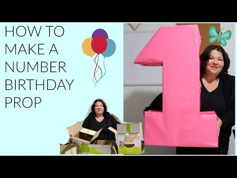 How To Make DIY BIRTHDAY NUMBER DECORATION || BABY FIRST BIRTHDAY || NUMBER || Aussie Family