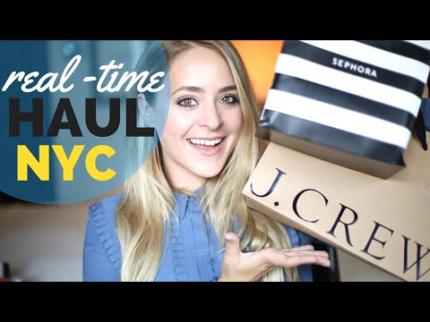 REAL-TIME HAUL NY! Sephora, J.Crew, Forever 21 | Fleur De Force