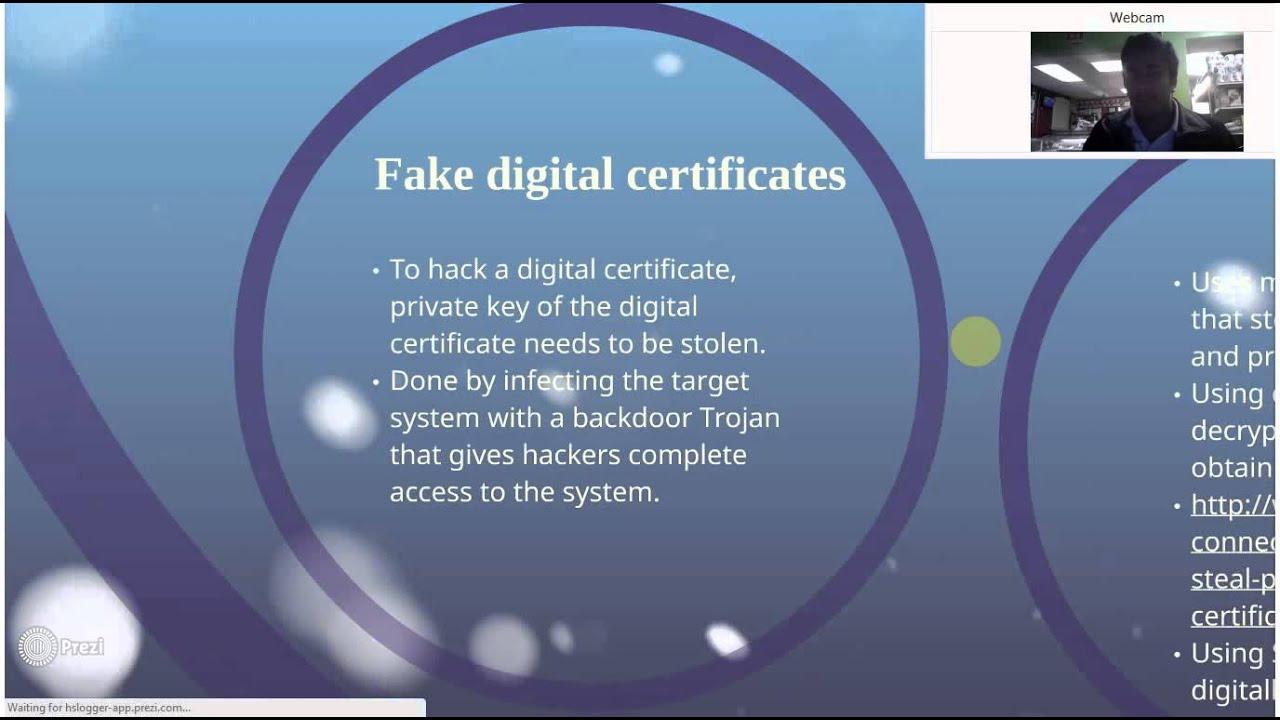 fake digital certificate