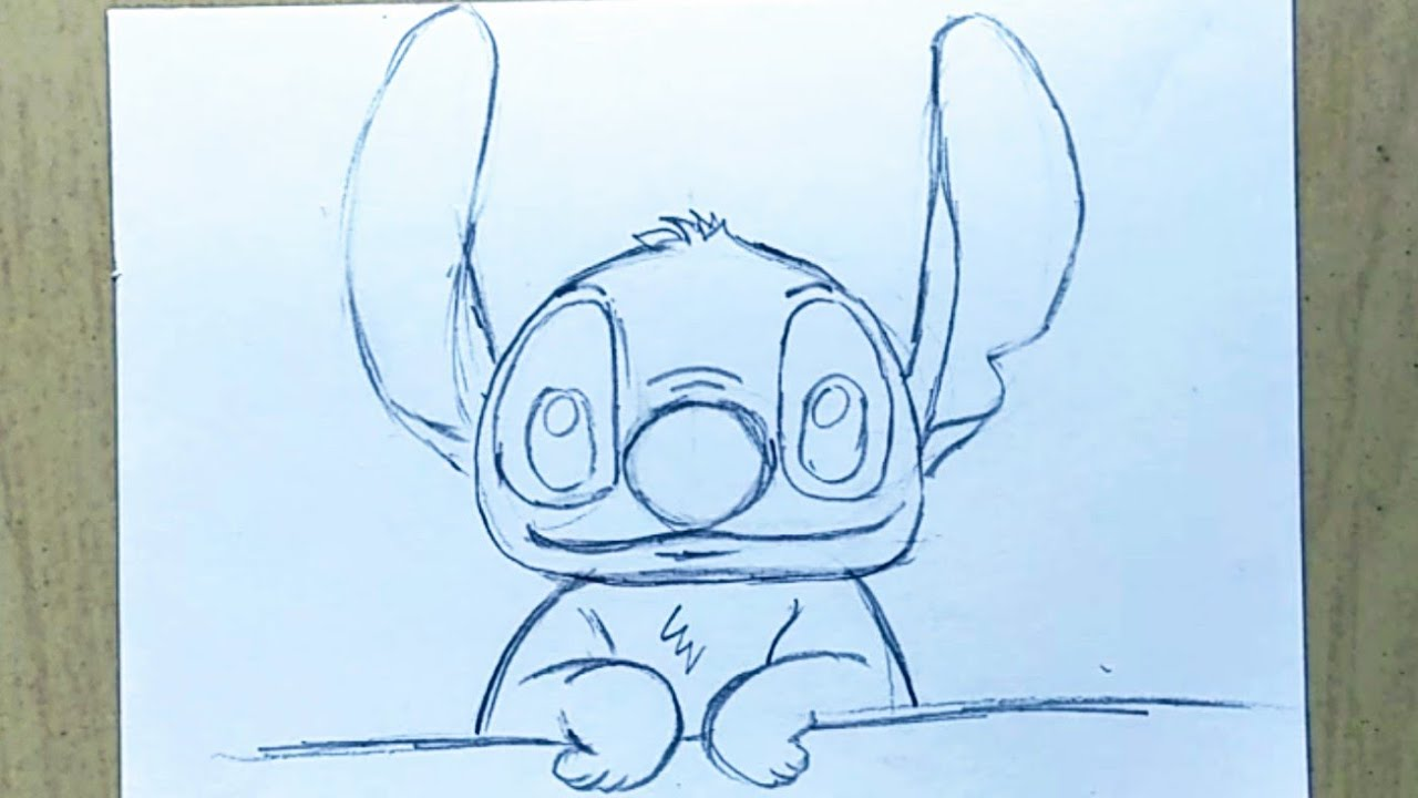 Easy Drawing Stitch Pencil Sketch Youtube