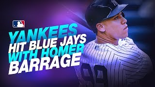 Yanks hit four homers in win over Jays